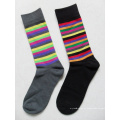 Mehrfache Streifen-Baumwollmann-Hosen-Socken mit kundenspezifischem Logo