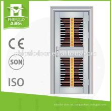 Puertas de tormenta de seguridad de acero inoxidable español para productos al por mayor.
