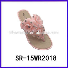 Pink flower ladies slippers cheap woman slipper slipper for woman cheap woman slipper
