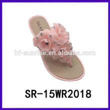 Розовый цветок дамы тапочки дешевая тапочка тапочки женщина для женщины дешевые тапочки женщина