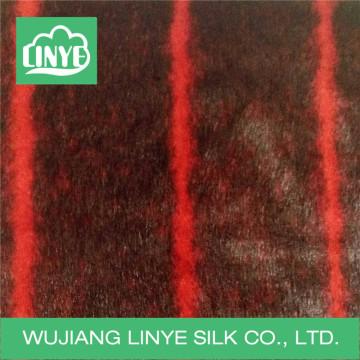 high quality faux fur fabric, stripe fabric for blanket/garment