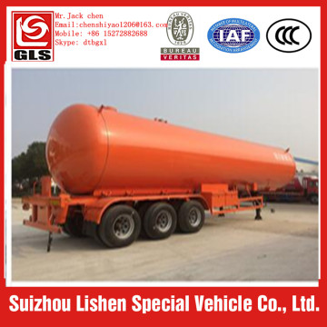 BPW 3 axle 58.5m3 lpg gas trailer truck