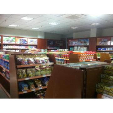 Hölzerne Anzeigenzahnstange Supermarkt