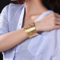 Womens Rose Gold Jewelry Big Cuff Bangle Gelang