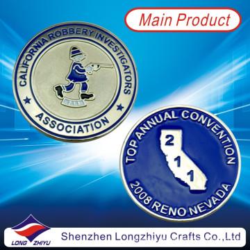 Souvenir-kundenspezifische Münzen Metall-Zink-Legierungs-Material mit weichem Emaille, preiswerter Art- und Weiseguss-Neuheit-Silbermünzen-Medaillen-Abzeichen mit Ihrem eigenen Entwurfs-Logo