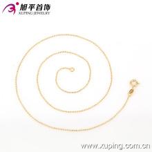 42614 xuping collier de chaîne en plaqué or avec chaîne de femmes pour l'environnement en cuivre