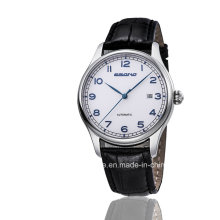 2016 Automatic Leather Strap Digital Index Men Causal Watch