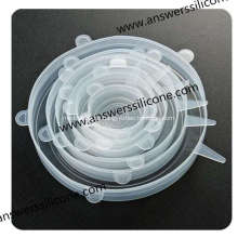 BPA Free6PCS Food Cover Flexible Silikon-Stretchdeckel