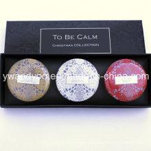 @ Christmas Gift Set Seriess Cera de Soja Orgânica vela de lata perfumada natural