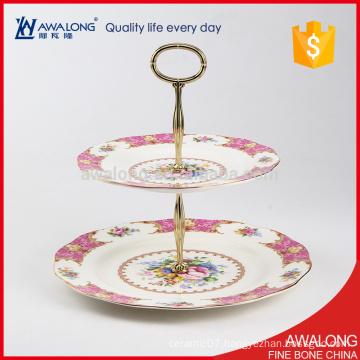 royal porcelain dessert fruit plate for household parties and wedding gift