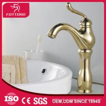 Cubierta montada grifo baño chapado en oro MK26801