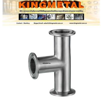 Aço inoxidável Ss304/316 sanitário grampo Tee 90 graus 3A Tee.