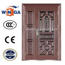 Antique Style Exterior Security Iron Metal Steel Copper Door (W-STZ-06)
