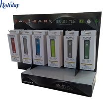 fully stocked cell phone accessories counter top display showcase