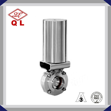 Stainless Steel Pneumatic Sanitary Welded Butterfly Valve