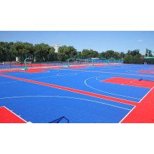 Nouveau produit de 2017 avec le plancher de verrouillage de haute qualité de pp et de PVC pour le terrain de sports d'intérieur / extérieur
