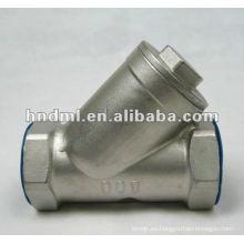 """Filtro de rosca interno de acero inoxidable tipo Y con DN de 6 mm, rosca de 1/4 """""""