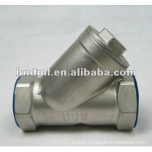 "Y-type stainless steel internal thread filter with DN 6mm,1/4"" thread"