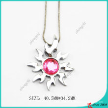 Pink Dimond Sun Necklace (PN)