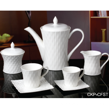 NY BONE CHINA EMBOSSED TEA SET