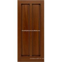diseño de puerta de madera caoba 2-panel