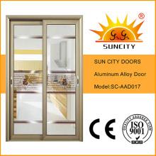 Прозрачное стекло раздвижной Тип алюминиевых дверей (СК-AAD017)