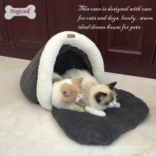 Cama lavável por atacado lavável da cama do cão da cama morna da caverna do gato