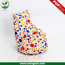Único algodão beanbag algodão mini cadeira sofá, tecido de algodão, saco de feijão