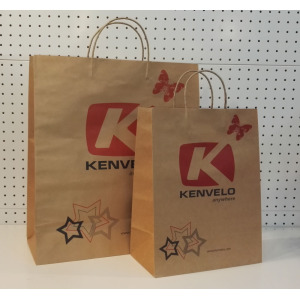 Bolsos de papel Kraft marrón