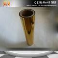Golden coated metallized PET film