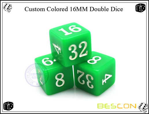 Custom Colored 16MM Double Dice-2