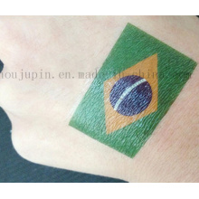 Custom National Flag Club Temporary Tattoo Sticker for Football Match