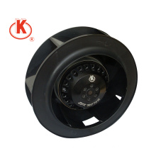 220V 190mm backward centrifugla impeller/fan in black color