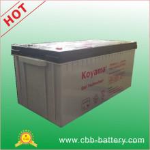 Bateria marinha do gel da bateria do gel de 12V200ah, bateria solar do gel, bateria profunda do gel do ciclo, bateria acidificada ao chumbo