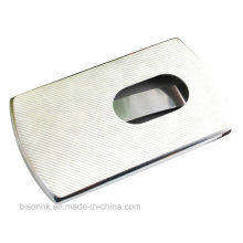 Leather Push Type Business Card Holder (BS-L-003)