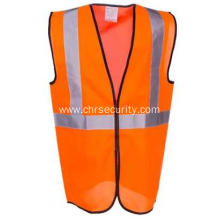 Men's Orange High Visibility Safety Vest