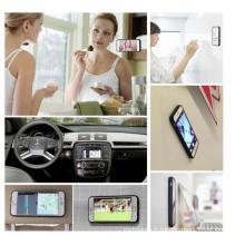 Anti-gravité Selfie Magical Nano Sticky pour iPhone7 / 6 / 6s / Plus avec peut coller au verre, miroirs, tableaux blancs, métal, armoires de cuisine ou carreaux, GPS de voiture,