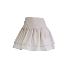 Half White double-deck Ruffle Apron