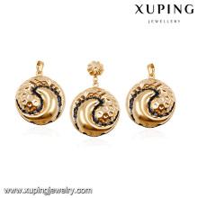 64014 design saudi gold schmuck billige mode einzigartige kupferlegierung ohrring und anhänger frauen schmuck sets