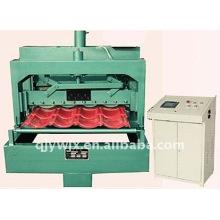 Rollo de azulejo esmaltado de acero color automático 28-207-828 de QJ que forma la máquina