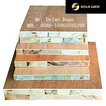 Paneles de carpintería laminada de melamina con núcleo de álamo para muebles