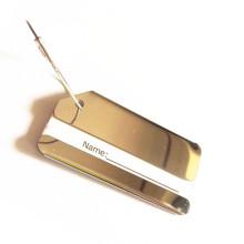 Рекламный подарок Высококлассная металлическая бирка для багажа с логотипом заказчика (B1003)