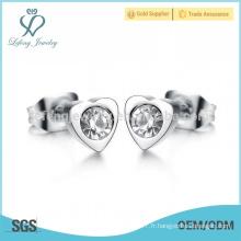 Boucles d'oreilles en cristal de mariage à la mode, boucles d'oreille femme