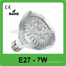 hot sales!! E27 7w high power 110LM/W led light bulbs,led spot light