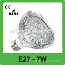 Alta qualidade Intensidade Alta Branco 420Lm 7W E27 LED Spot Lâmpadas