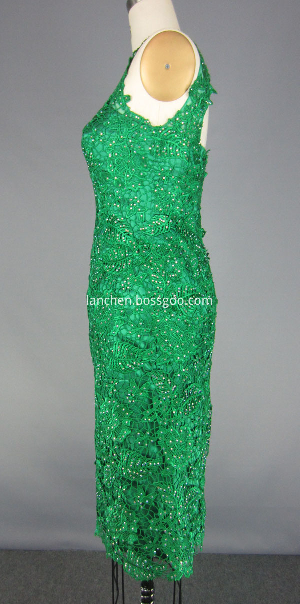 Lace Neck Homecoming Dress