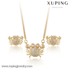 60830-Xuping Summer Popular Crab Jewelry Elegant Set