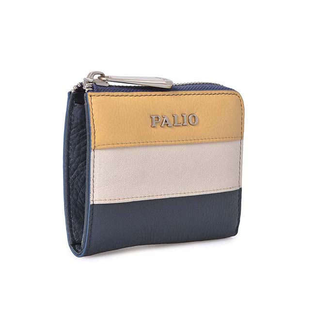 new stitching contrast color wallet female short clutch bag