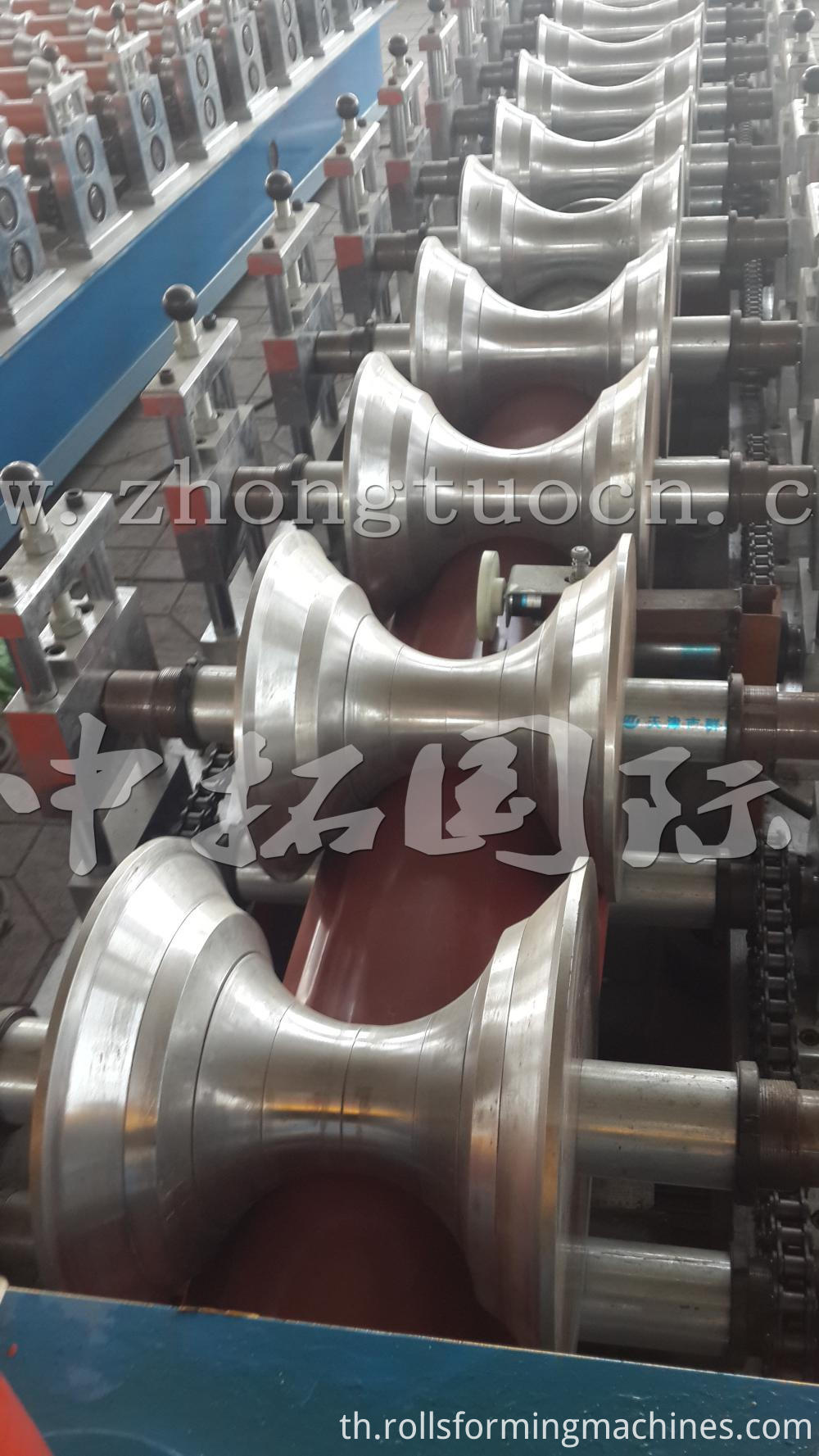Metal Ridge Cap Tile Making Machine 05)