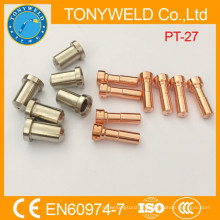 Разграничении плазменной резки электрода и сопла PT27
